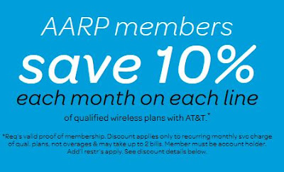 at&t aarp cell phone discount