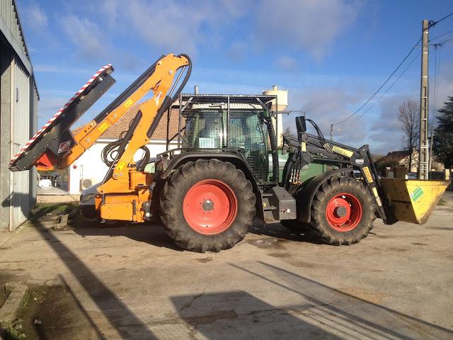 Tracteur Fendt Vario 716 Lamier Kühn 7,4m Entreprise LEGRET