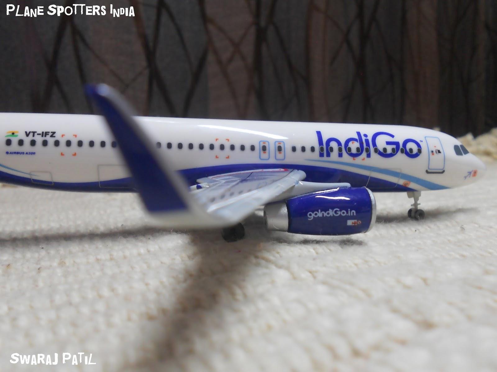 Indigo's Airbus A320   1:200 Scale Model   - Plane Spotters India
