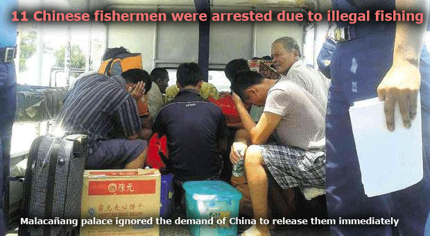 Malacañang Did Not Grant China's Demand to Free 11 Fishermen who were arrested due to illegal fishing