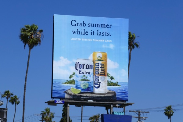 Grab summer while it lasts Corona limited edition can billboard