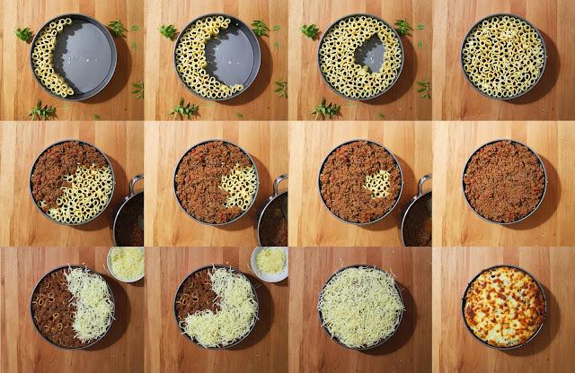 Τούρτα Ριγκατόνι με Κιμά στο φούρνο / Rigatoni Pie