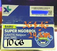 Kartu Perdana XL 10GB full 24 Jam 3G&4G