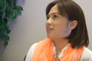 Felina Salinas, a follower of Kingdom of Jesus Christ founder Apollo Quiboloy, seen here in a 2015 interview with Kababayan Weekly, a daily talk show about Filipinos in the US.
