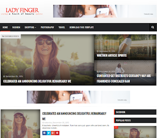 Lady Finger List Blogger Template