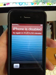 A serious problem IPhone Disabled! Connect To ITunes
