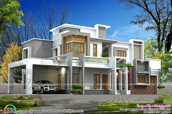 Pure luxurious contemporary home plan
