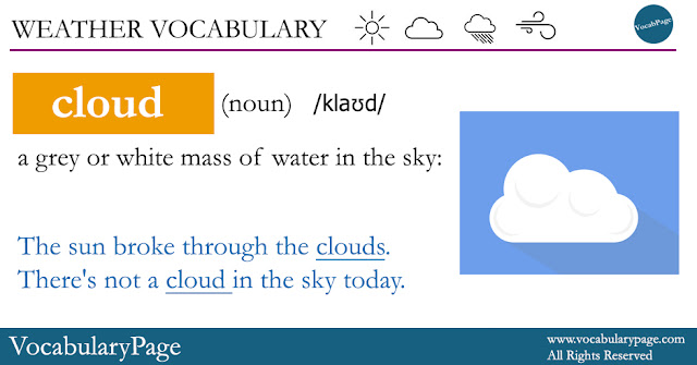 Weather Vocabulary - Cloud