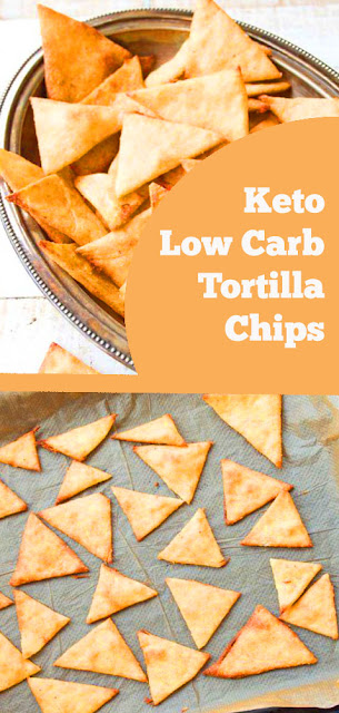 Keto Low Carb Tortilla Chips - Crispy, crunchy and perfect for dipping! These Keto low carb tortilla chips taste just as good as the real thing, but with a fraction of the carbs. Great for nachos! #keto #lowcarb #tortilla #chips
