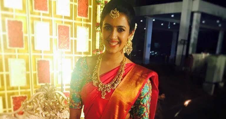 Niharika Konidela Pink Silk Saree Saree Blouse Patterns