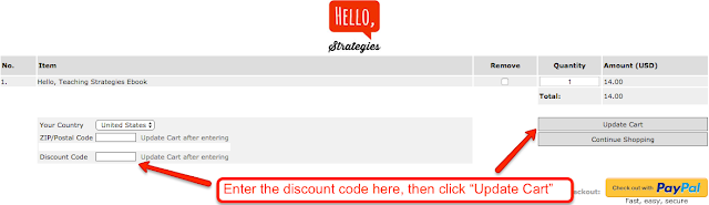 Directions how to enter code