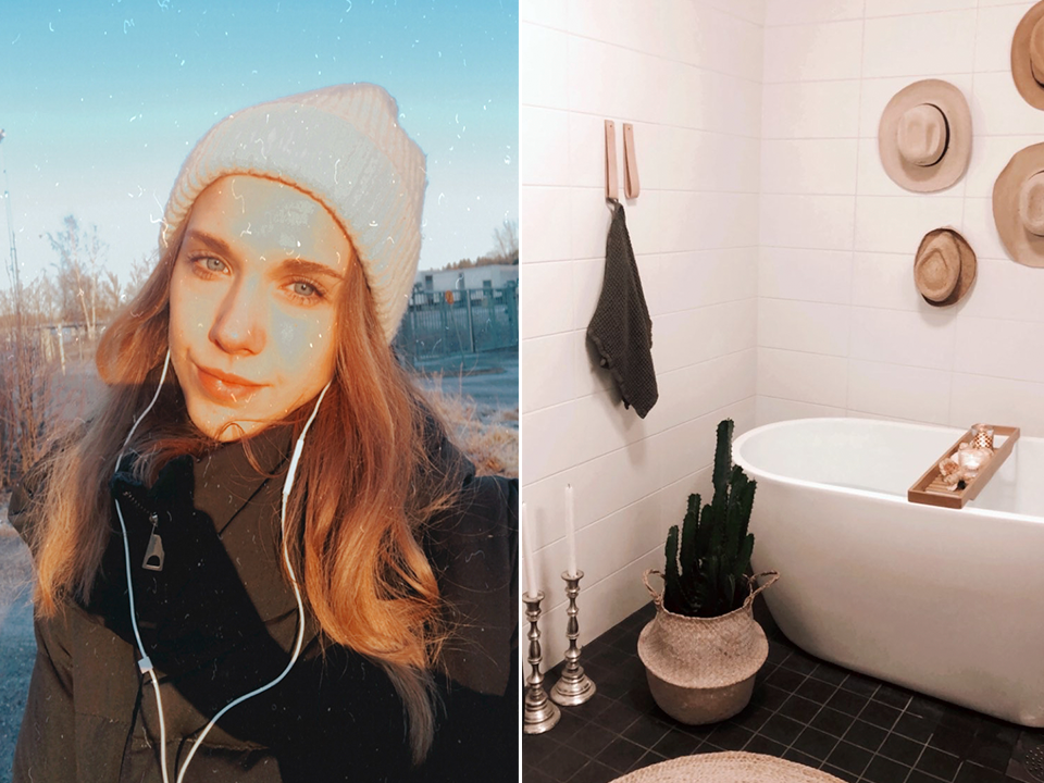 Selfie, bathroom decor - kylpyhuoneen sisustus