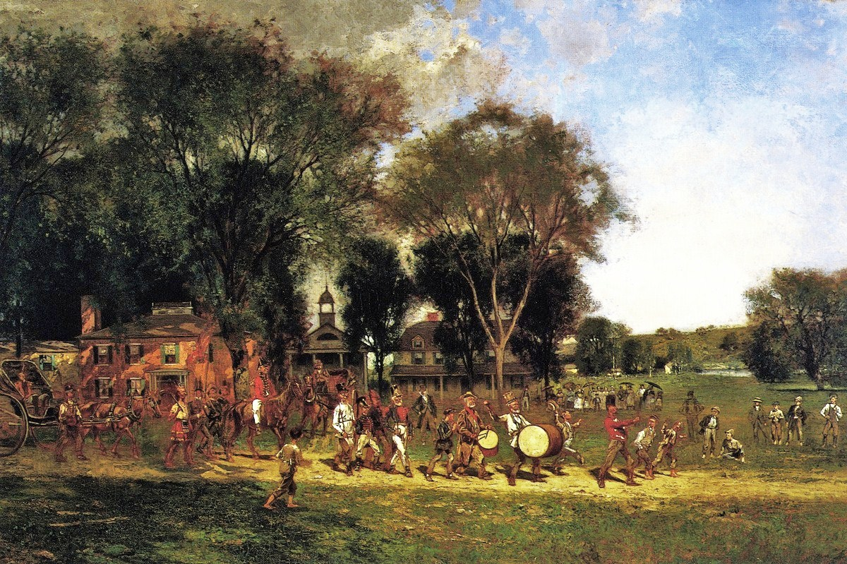 cornelius howland american painter 1838 1909 fourth of july parade