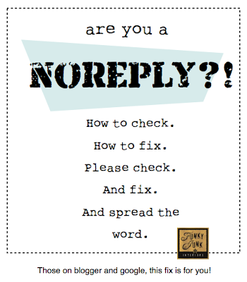 Are you a NOREPLY? How to check and fix. via Funky Junk Interiors