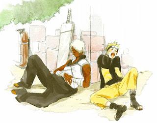 Darui y Naruto