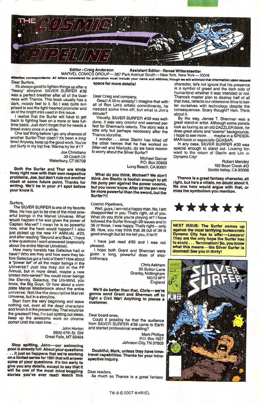 Read online Silver Surfer (1987) comic -  Issue #42 - 33