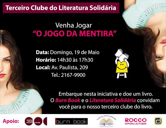 Evento: Clube Literatura Solidaria, O Jogo da Mentira de Sara Shepard 17