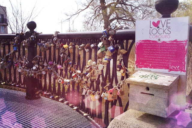 Cobourg's love locks on display...