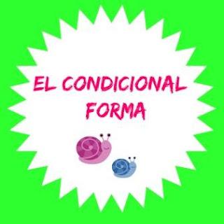 Forma del condicional español. Verbos regulares e irregulares.
