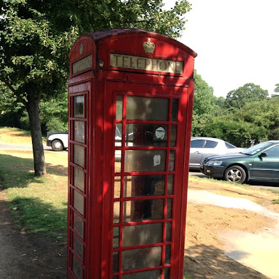 British Telephone Boxes, Hyde Park, London, UK