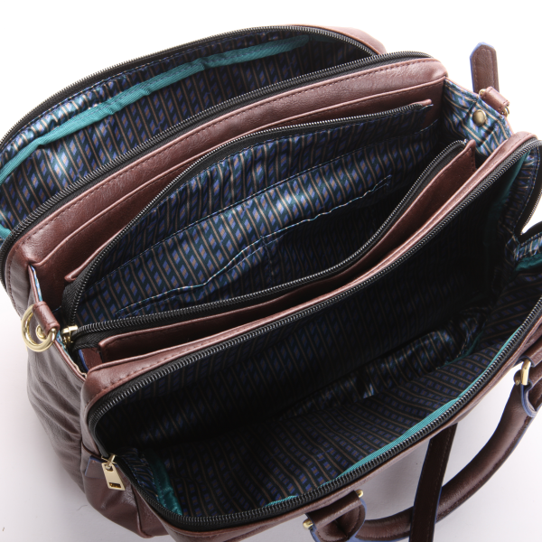 The Carrie Satchel Has Three Zippered Compartments To All What I Use Daily There Is Ample Room In This Bag Of And More