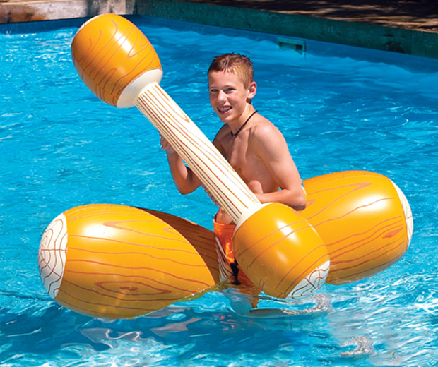 Jousting Inflatable Wooden Logs
