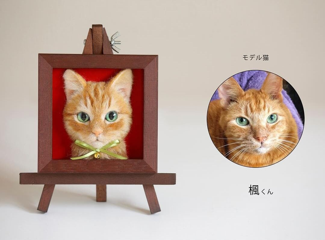 09-Wakuneco-Wool-Needle-Felt-Cat-Portraits-and-Video-Demonstration-www-designstack-co