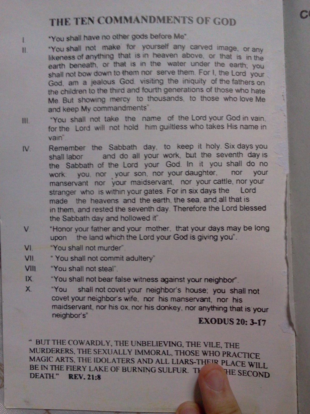 10 commandments dating summary 9