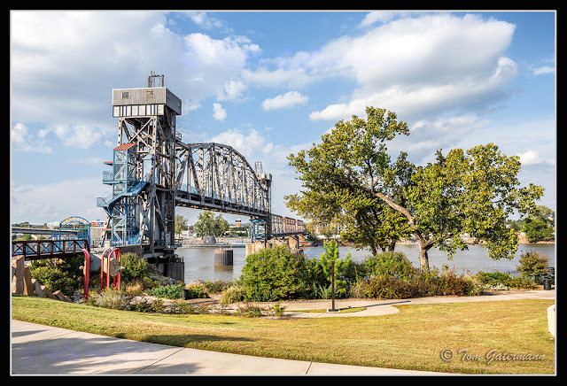 A view of the east side of Junction Bridge at Little Rock, AR.