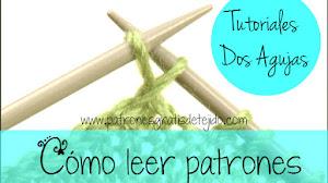 Aprender a tejer / Como leer un patrón de tejido dos agujas