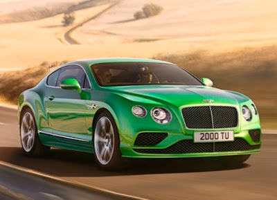 Bentley Continental Models: green color
