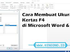 Cara Paling Mudah Membuat Ukuran Kertas F4 di Microsoft Word dan Exel