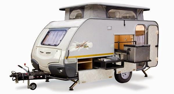 Geländetauglicher Camping-Anhänger mit Hubdach