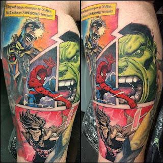 tatuaje Historietas de Marvel