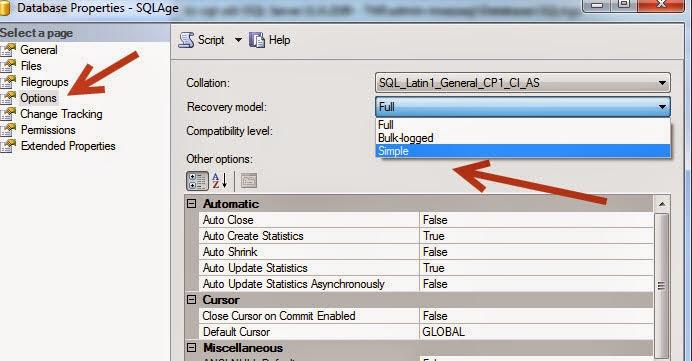 shrink database in sql server