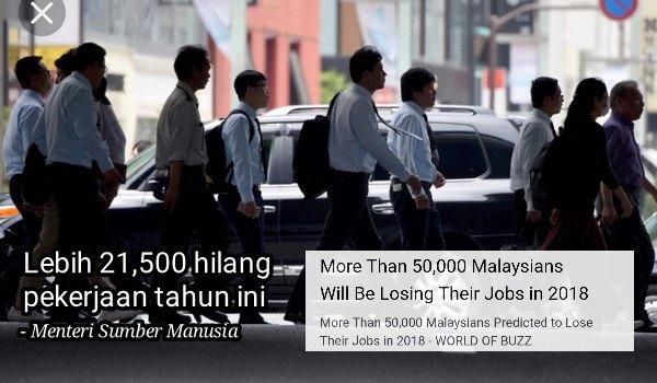 Lebih 21,500 hilang pekerjaan tahun ini, kata menteri rejim PH