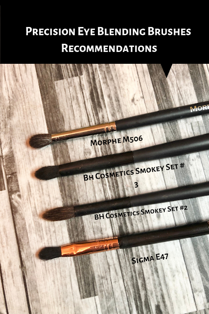 Precision Eye Blending Brushes Recommendations (Morphe, BH Cosmetics, Sigma)
