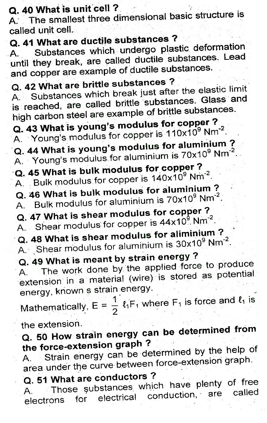 2nd Year Physics Chapter 17 short questions