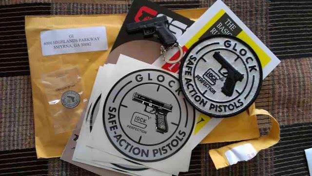 احصل على مجموعة من الهدايا المجانية من company glock الى باب بيتك