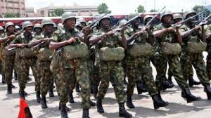 Arrested Nigerian Army