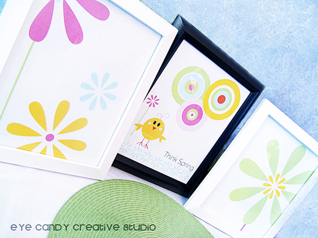 graphic art prints, spring graphic art prints, flower art print, think spring