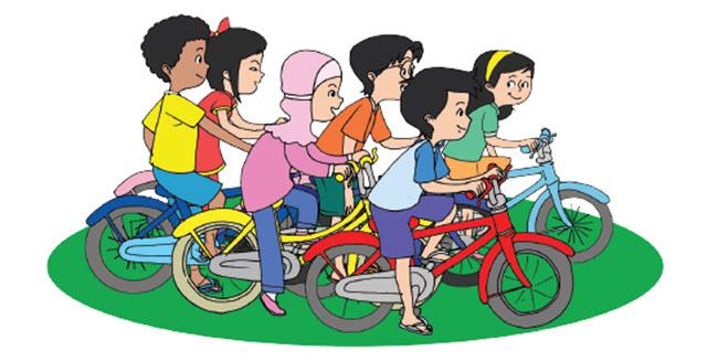 Bersepeda merupakan kegiatan yang menyenangkan sekaligus menyehatkan Ide Pokok Teks Bersepeda