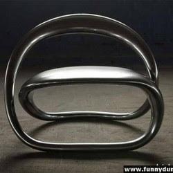 Diseño de sillón único formas redondas tubular