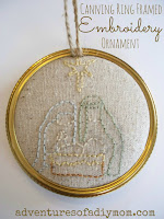 Canning Ring Embroidered Ornament