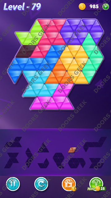 Block! Triangle Puzzle Master Level 79 Solution, Cheats, Walkthrough for Android, iPhone, iPad and iPod
