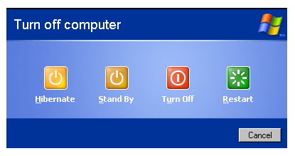 Tombol Turn Off Computer