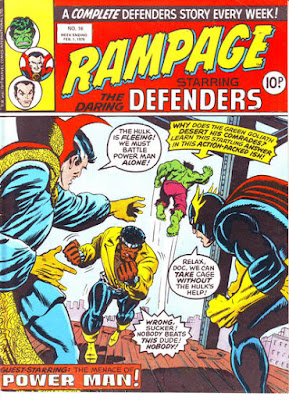 Rampage #16, the Defenders and Luke Cage