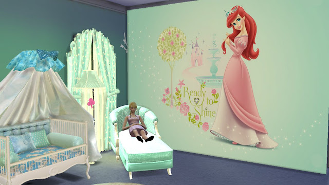 sims 4 my little mermaid wall sticker,decal and mural download