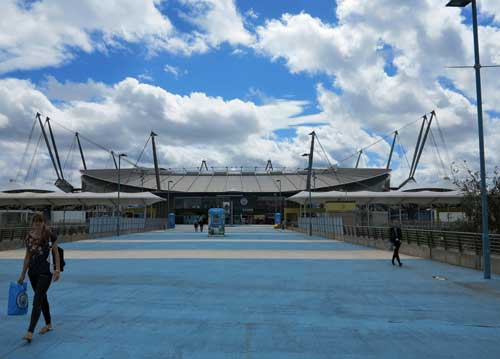 Etihad Stadium, home of Manchester City.