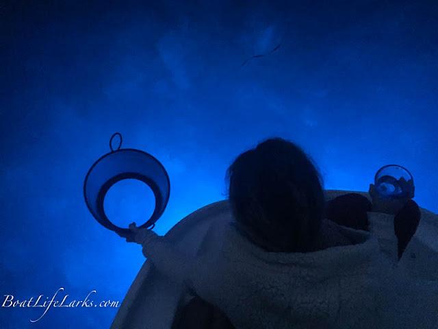 Blue underwater lights